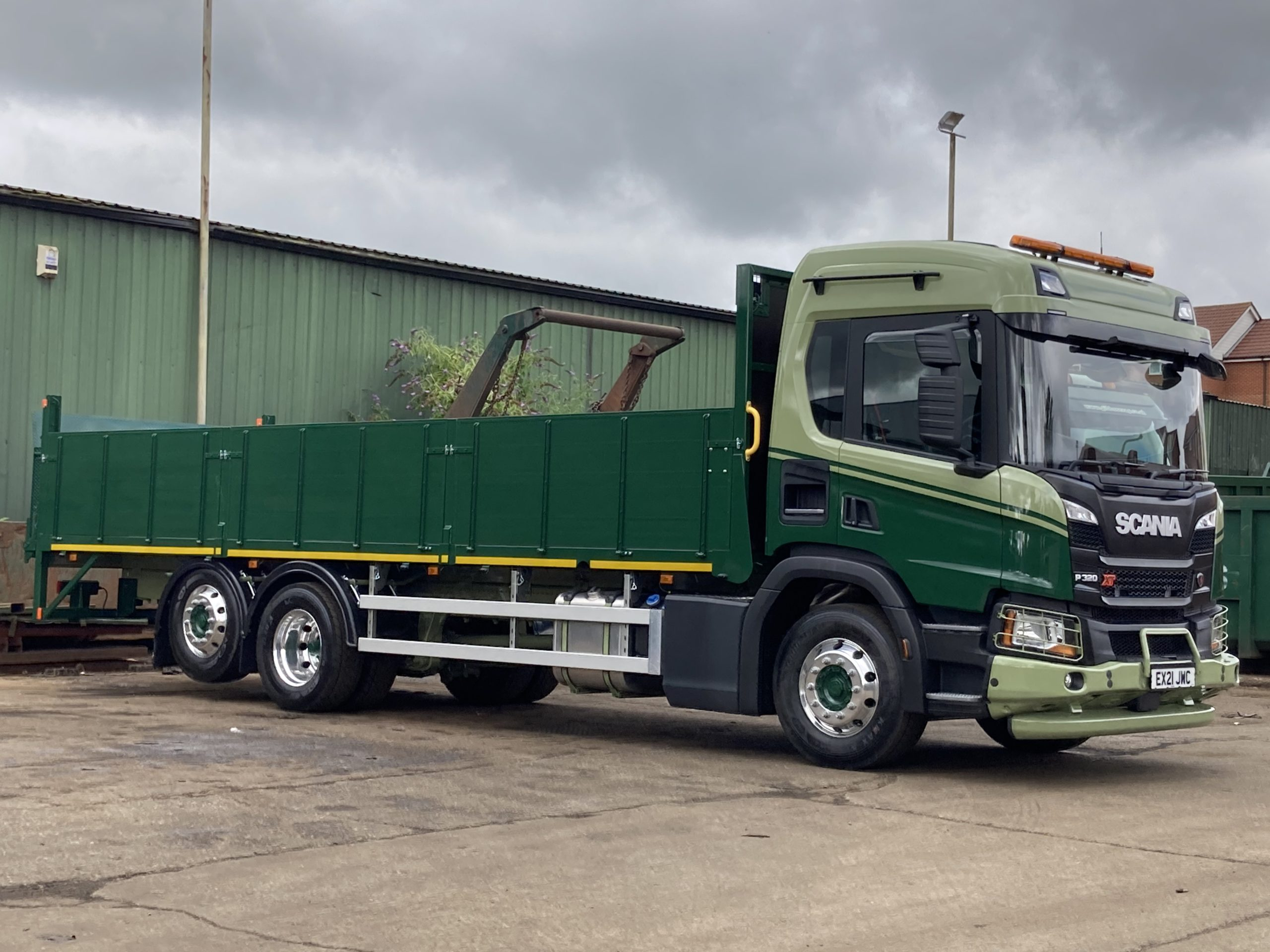 side profile of Gibbs truck